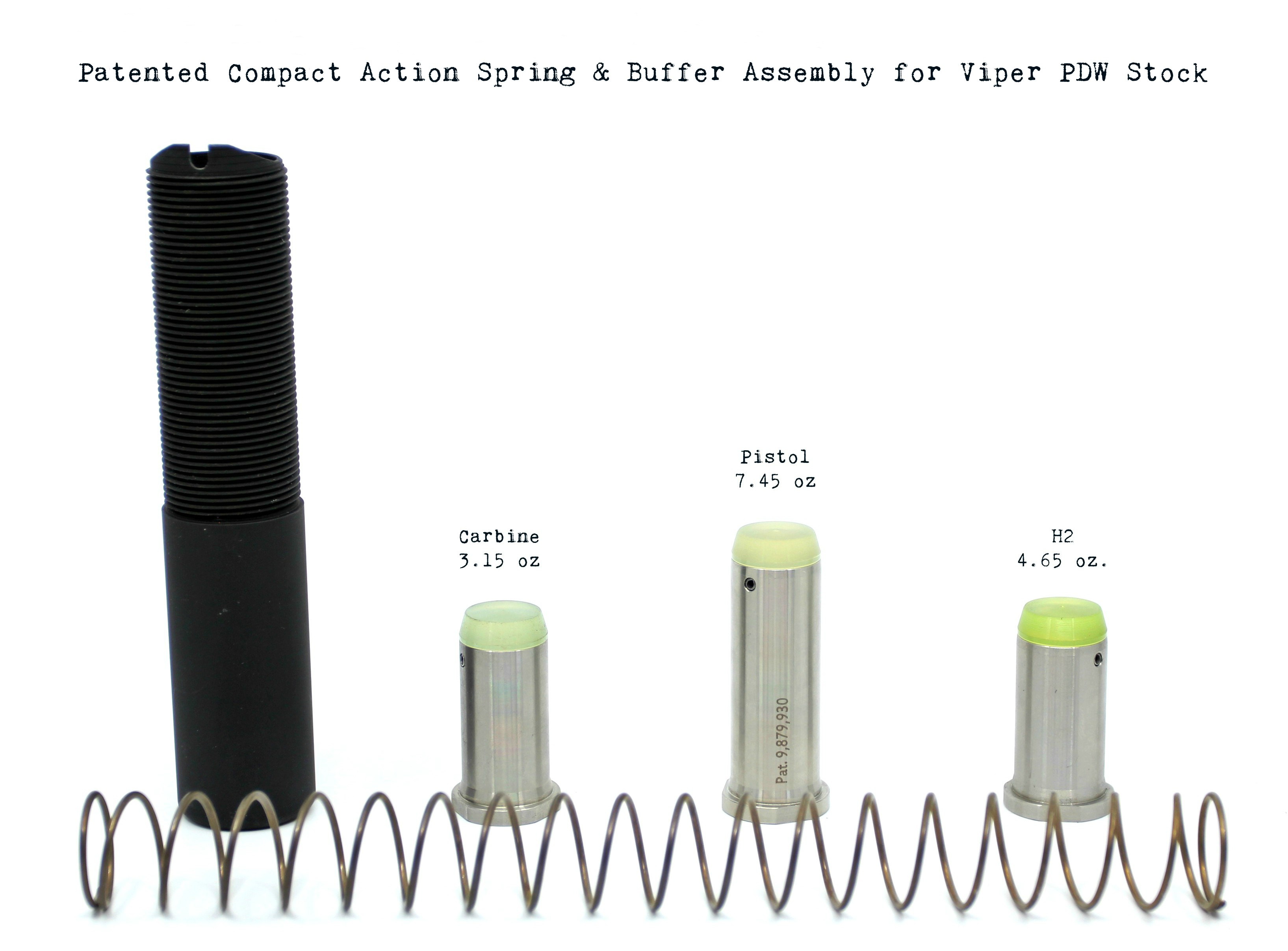 Enhanced Spring & Buffer Tube Assemblies for Viper PDW Stocks & Braces