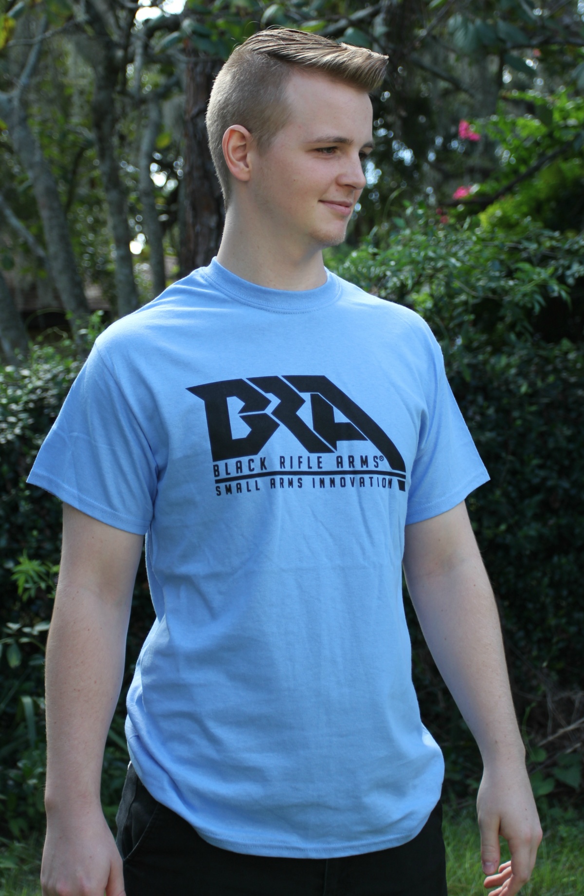 Black Rifle Arms Caroline Blue Logo T-Shirt
