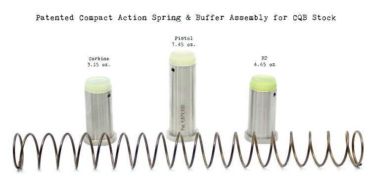 Enhanced Buffer & Spring Assemblies for Maxim CQB Stocks & Braces