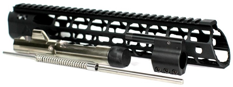 "7.62x39 Low Profile Mid Length Piston Conversion with 12"" Rainier Arms Force Keymod Rail"