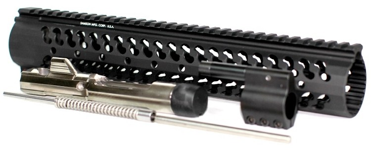 "5.56x45 Low Profile Mid Length Piston Conversion with 12.37"" Samson Evolution Rail"