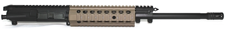 7.62x39 Spartan Carbine Piston Upper with Troy FDE Bravo Handguard